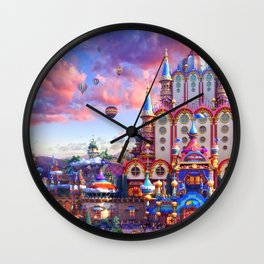 Europe Castle Fairy Tail Wall Clock