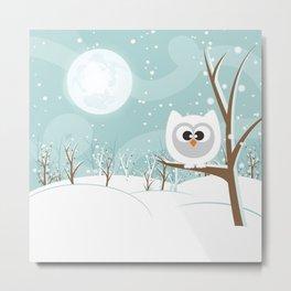 Arctic Owl Metal Print