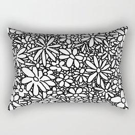 Outlined Daisies Rectangular Pillow