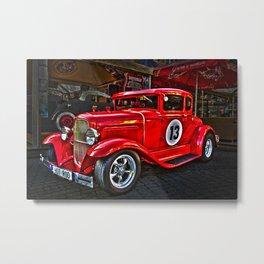 Red Hot Car- T Ford Metal Print