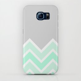 TWO-TONE MINT CHEVRON COLORBLOCK iPhone Case