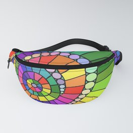 Rainbow Spiral Fanny Pack