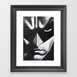 DARK HERO FACE Framed Art Print