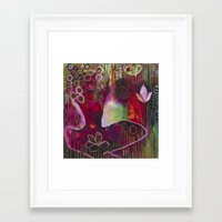 "flora bowley Framed Art Prints featuring ""Surrender"" Original Painting by Flora Bowley by Flora Bowley"