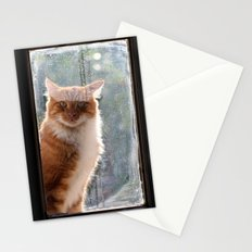 Ginger Cat  waiting by the window  (CW004) Stationery Cards