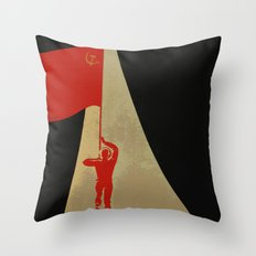 all the way up to the stars - soviet union propaganda Throw Pillow