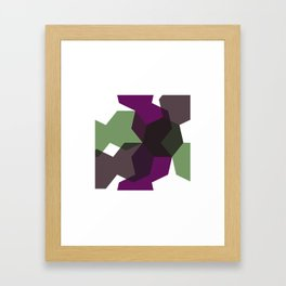 #365 Clash of heptagons – Geometry Daily Framed Art Print