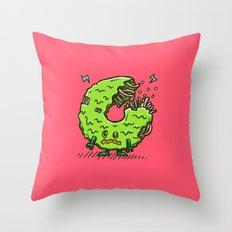 Zombie Donut 02 Throw Pillow