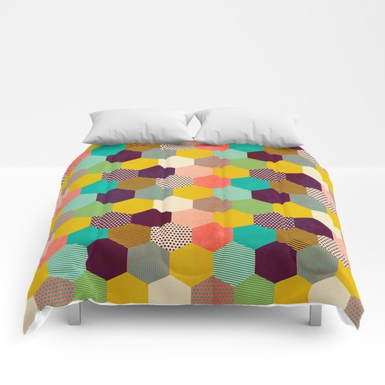 Fun Hexagon Comforters