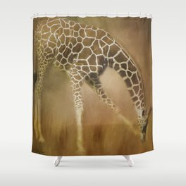 Twigga (kiswahili word for giraffe) Shower Curtain
