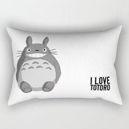 I Love Totoro Rectangular Pillow