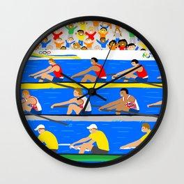 Rowing Wall Clock