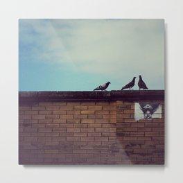 Birds Up Top Metal Print