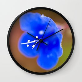 Desert Bluebell Wall Clock