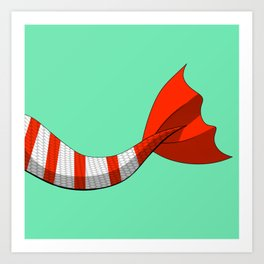 Candy Cane Mermaid Tail #2 #Christmas #Holiday Art Print
