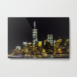 NYC in motion Metal Print