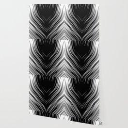 stripes wave pattern 3 bwii Wallpaper