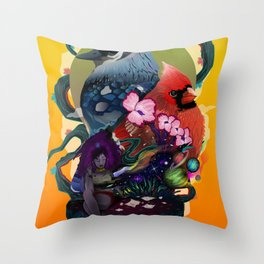 Space Between Two Worlds Throw Pillow