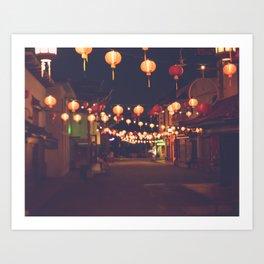 L.A. Chinatown Art Print