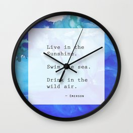 Live in the Sunshine Wall Clock