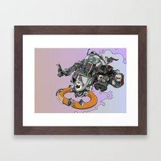 Cloud Ship. Framed Art Print