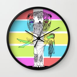 Ape Lifter Wall Clock