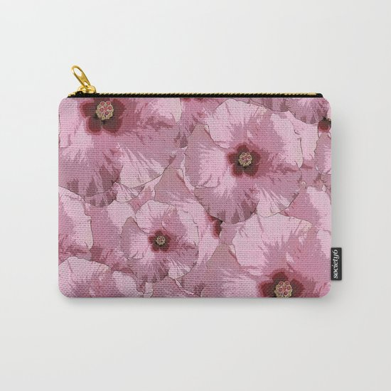 Pink Hibiscus World Carry-All Pouch