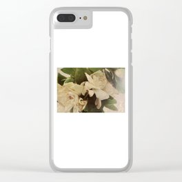 Rustic Floral Clear iPhone Case