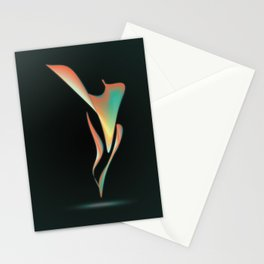 ABSTRACT FLOWER 01 Stationery Cards