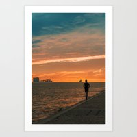 running Art Prints featuring Running  by jmiguel