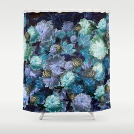 """""""Baroque floral with bugs"""" Shower Curtain"""