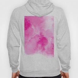 Hand painted magenta pink modern watercolor Hoody