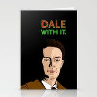 dale cooper Stationery Cards featuring DALE WITH IT. by Chris Piascik