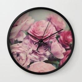 quiet ranunculus Wall Clock