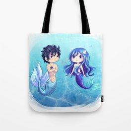 Gray and Juvia Mermaids Tote Bag