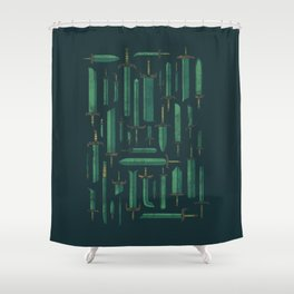 Bunch of Blades Shower Curtain