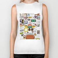 collage Biker Tanks featuring Collage by Loverly Prints