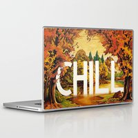 chill Laptop & iPad Skins featuring Chill by James McKenzie