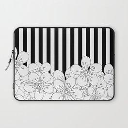 Cherry Blossom Stripes - In Memory of Mackenzie Laptop Sleeve