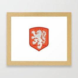 Holland 2014 Brasil World Cup Crest Framed Art Print