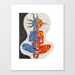 Sun & Moon in Nirvana Canvas Print