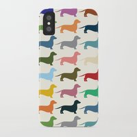 dachshund iPhone & iPod Cases featuring Dachshund by Opul