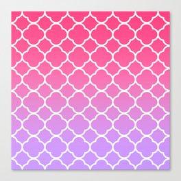 Pink & Lavender Ombre Quatrefoil Canvas Print