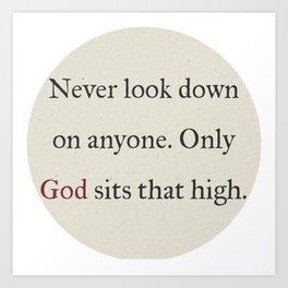 God Is Higher Art Print