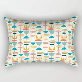 Mid century modern abstract shapes pattern Rectangular Pillow