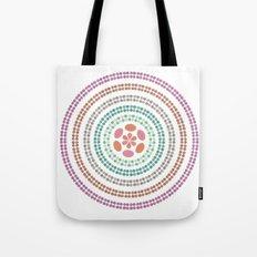 Retro floral circle 2 Tote Bag