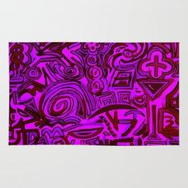 Magenta symbols Rug