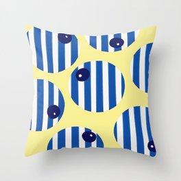 snooker balls in blue Throw Pillow