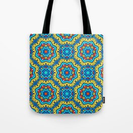 Ornate Festive Folklore Colorful Pattern Tote Bag