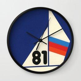 Sailing Regatta 81 Wall Clock